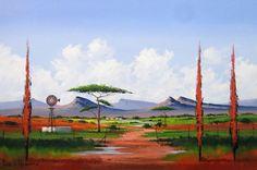 Pieter van Heerden - Abstract Landscape x Abstract Landscape, Landscape Paintings, Landscapes, South Africa Art, Windmill Art, Pomegranate Art, New Hobbies, Pictures To Paint, 6 Years