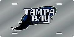 Tampa Bay Rays Laser Cut Silver License Plate #TampaBayRays