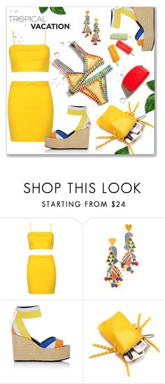 """""""Pop Cycles"""" by interesting-times ❤ liked on Polyvore featuring Boohoo, Tory Burch, Pierre Hardy and TropicalVacation"""