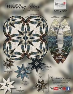 Moissanite engagement ring Vintage Art deco engagement ring Women Unique Alternative Diamond Wedding Bridal Jewelry Anniversary Christmas All our diamonds are natural and not clarity enhanced or treated in anyway. Star Quilt Blocks, Star Quilt Patterns, Star Quilts, Foundation Paper Piecing, Dyi, Bargello Quilts, Wedding Ring Quilt, Double Wedding Rings, Deco Engagement Ring