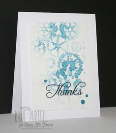 Happy Little Stampers, Kylie Purtell, Thinking of You, Stamping with Embossing Folder, HLS Glitter Enamel Dots, Watercolour paper