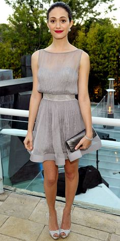 Look of the Day - August 19, 2011 - Emmy Rossum in Katharine Kidd from #InStyle