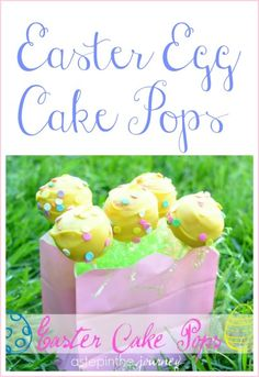 Cake pop recipe/tutorial! Cake pops are perfect for Easter and I love how they are displayed.