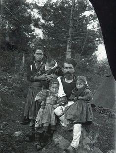 """A family from the mountains of Kolonja, Albania"" (Photo: Dhimitër Vangjeli, 1910s)"