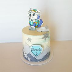 Paw Patrol's Everest Cake 5th Birthday, Birthday Parties, Paw Patrol Cake, Custom Cakes, Amazing Cakes, Cake Decorating, Cake Ideas, Fun, Party Ideas
