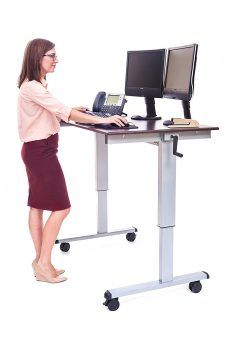 Stand Up Desk - Luxor the innovative sit to stand adjustable crank desk, it's easy to achieve long lasting health benefits like burning more daily calories, boosting productivity, improving posture and reducing risk of heart problems. Best Standing Desk, Electric Standing Desk, Standing Desks, Stand Up Workstation, Stand Up Desk, Computer Workstation, Computer Tables, Adjustable Standing Desk Converter, Adjustable Height Desk