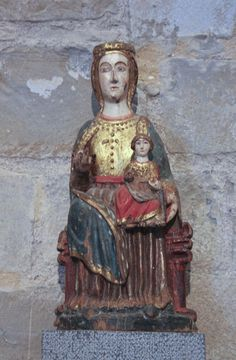Virgen románica. Virgen de Siresa, siglo XIII. Monasterio de San Pedro de Siresa (Huesca)
