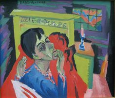 Ernst Ludwig Kirchner - Selbstbildnis als Kranker / Self-portrait as invalid, 1918