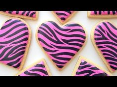 ▶ How To Decorate Zebra Print Cookies! - YouTube
