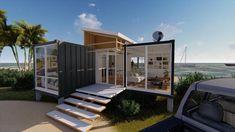 Small House Kits, Tiny House Cabin, My House, Modern Small House Design, Tiny House Design, Building A Container Home, Tiny Container House, Container Home Designs, Container Homes