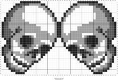 Free To Use Skulls Pattern chart