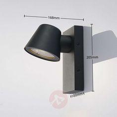 Viliam outdoor wall light, seawater-resistant | Lights.ie