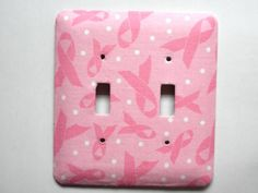 Breast Cancer Awareness Double Switch Plate | ClaireMDesigns - Housewares on ArtFire