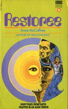 RESTOREE by Anne McCaffey 1970 Corgi. Cover by Jack Faragasso.