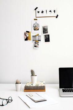 Moodboard, Mac, Cactus. White office.