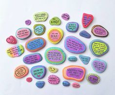 Good Vibes Rock Set of 8 by paperedthoughts on Etsy