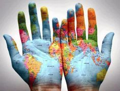 The world is in my hands. The world is in my hands. I will not be a loser. The world is in my hands. We Are The World, My World, Third Eye, Hand Kunst, Quelques Photos, Map Globe, Palm Of Your Hand, Thinking Day, His Hands