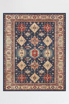 Ruggable machine washable area rugs - Cambria sapphire