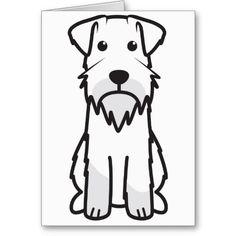 Miniature Schnauzer Dog Cartoon Cards