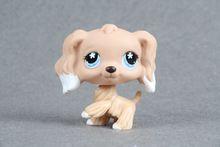 Original LPS Kids Toy #568 Cocker Dog Kahki Daisy Cloud eyes Collection figure(China (Mainland))