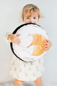This cute sleeping fox pillow is perfect cushion for cuddling, sitting or just drooling on while sleeping - it is so squishy and soft.  Made with 100% with cotton fabric and stuffed with high quality poly-fill.  It has been designed by us and professionally printed on fabric using eco-friendly, low-impact dyes that are safe for children. Also, the fabric has been already pre-washed before being sewn to assure minimum shrinkage.  The size is approx 12 inch diameter and 3 thick. Perfect for…