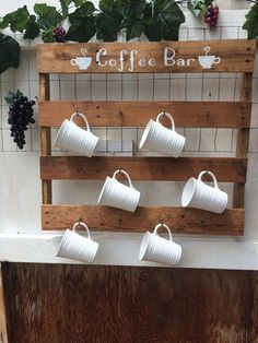 Coffee Cup Rack Holds 12 Cups. Reclaimed By Rampsandmore On Etsy