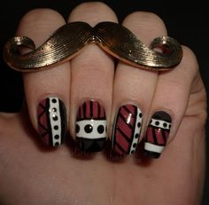 Day 16: Tribal Print  . #nail #nails #nailart