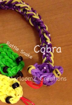 Rainbow loom Cobra or Rattle Snake NOW ON YOUTUBE  on MarloomZ Creations