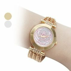 Tanboo Women's Rose Flower Style Alloy Analog Quartz Bracelet Wrist Watch (Gold) by Tanboo. $27.99. Women's Watche. Bracelet Watches. Fashionable Watches. Gender:Women'sMovement:QuartzDisplay:AnalogStyle:Bracelet WatchesType:Fashionable WatchesBand Material:AlloyBand Color:GoldCase Diameter Approx (cm):3.6Case Thickness Approx (cm):0.7Band Length Approx (cm):20.5Band Width Approx (cm):1.7