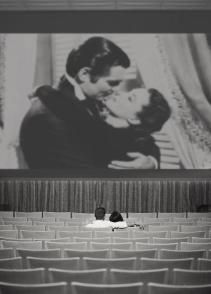 old cinema - perhaps using projected images to create the scene/backdrop? #mimcomuse