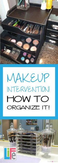 Can't ever find the right shade of makeup you need?  Organize what you have and find what you need easily!  Check out these great tips on organizing your makeup!