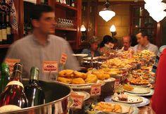 tapas bar in San Sebastian, Spain