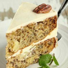 Hummingbird Cake - add shredded coconut and flowers!