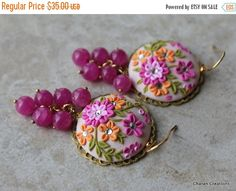 BIGANNUALSALE One of a Kind Polymer Clay pink by charancreations