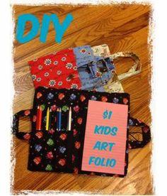 Tutorial: Kid's travel art folio