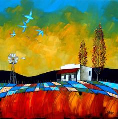 Artwork of Glendine exhibited at Robertson Art Gallery. Original art of more than 60 top South African Artists - Since Landscape Art, Landscape Paintings, Landscapes, Illustrations, Illustration Art, South African Artists, Abstract Canvas Art, Encaustic Art, Paintings I Love