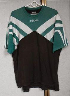 Vintage 80s 90s Adidas Colour Block T Shirt D6 L