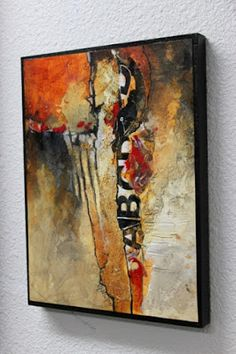 """CAROL NELSON FINE ART BLOG: Mixed Media Abstract Art Painting """"Don't Think Twice"""" by Colorado Mixed Media Abstract Artist Carol Nelson"""
