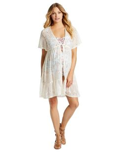 c02fee8db1 Jessica Simpson Crochet Detail Maternity Swim Cover-Up Maternity Clothes  Online