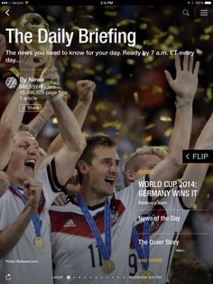 World Cup 2014: Germany Wins It. Check out today's briefing: http://flip.it/9z6gB