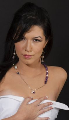 Extraordinary Necklace with  Amethyst  and pearl  by Viyoli, $120.00