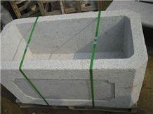 White Granite Planter Pots