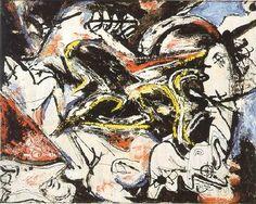 "Jackson Pollock - Conflict - Undated - Oil paint on canvas - 12"" X 15.2"""
