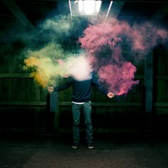 Colorful smoke bomb photography. By Louis Lander-Deacon. I would love to try this!