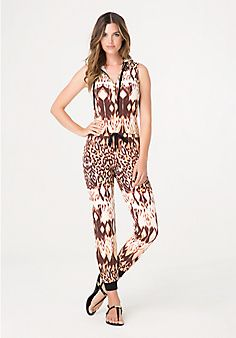 163d2827b09 Keyhole Hoodie Jumpsuit Cut Out Top