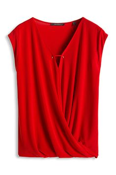 draped wrap-over t-shirt