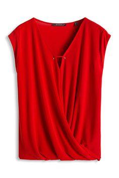 draped wrap-over t-shirt
