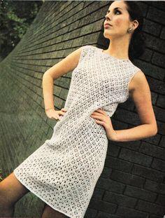 womens crochet dress pattern crochet pattern pdf ladies 4ply crochet dress VIntage 70s 34-38 inch 4 ply instant download by coutureknitcrochet on Etsy