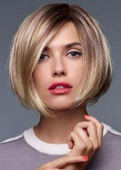 66 Chic Short Bob Hairstyles & Haircuts for Women in 2019 - Hairstyles Trends Blonde Lace Front Wigs, Blonde Wig, Dark Blonde, Bob Hairstyles For Fine Hair, Quick Hairstyles, Short Hair Cuts, Short Hair Styles, Corte Bob, Brown Hair With Blonde Highlights