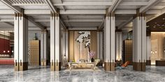 Lobby Lounge, Hotel Lobby, Sales Office, Nanjing, Lobbies, Chinese Style, Joinery, Wall Design, Hospitality